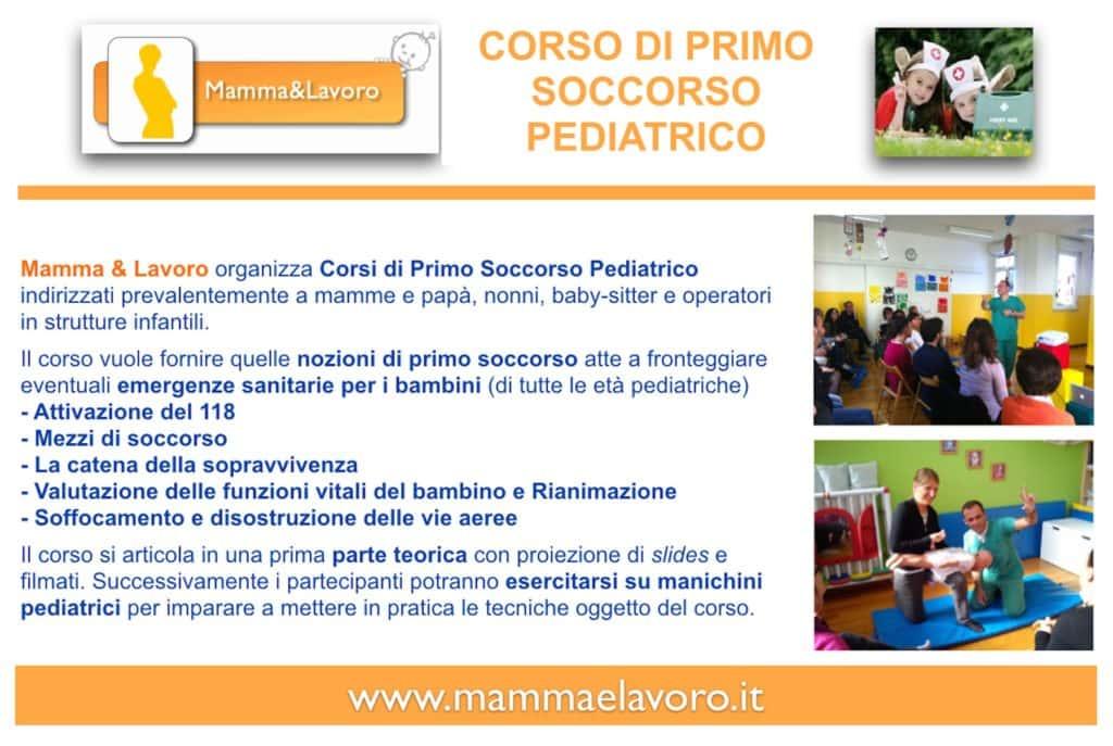 Corso Primo Soccorso pediatrico baby sitter front