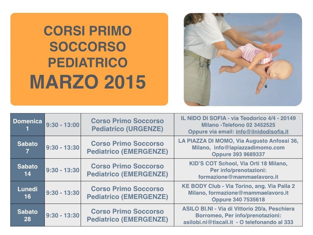 Calendario Corsi locandina Marzo