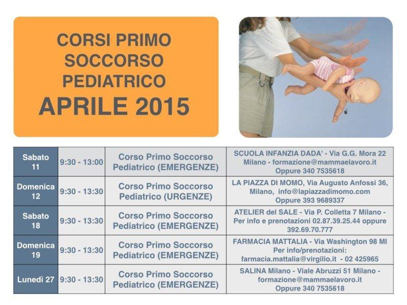 Calendario Corsi locandina Aprile
