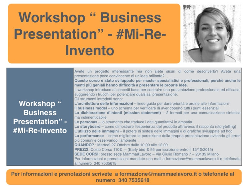 "Workshop "" Business Presentation"""