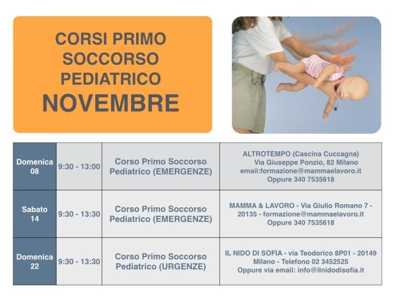 Calendario Corsi locandina Novembre