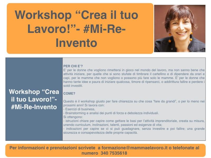 """Workshop """"Crea il tuo Lavoro!"""""""