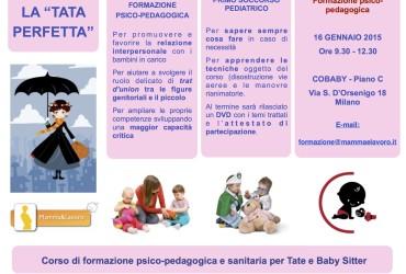 Corso di formazione per Baby Sitter: La Tata Perfetta