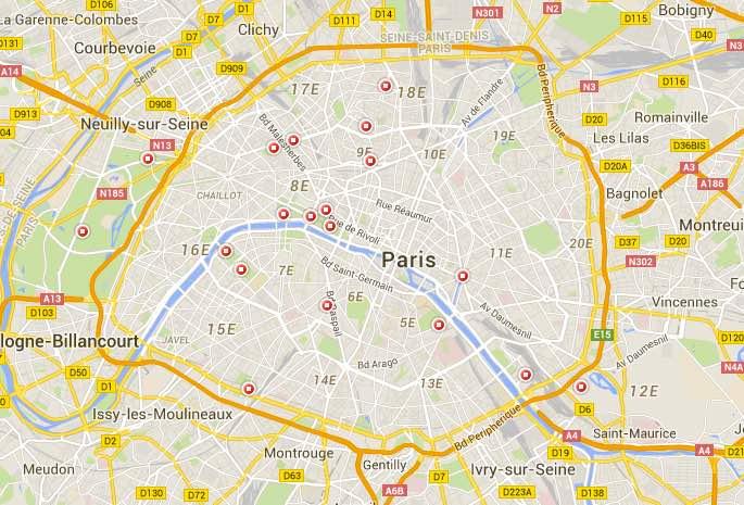 google map manèges Paris