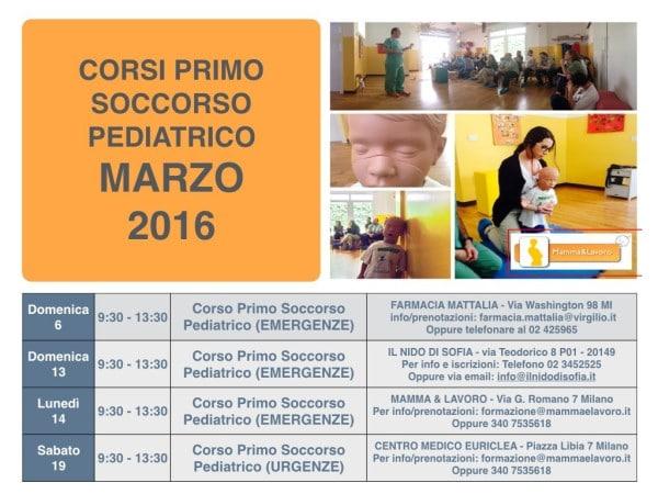 Calendario Corsi locandina Marzo 2016