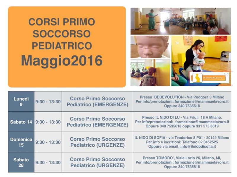 Calendario Corsi PSP Maggio 2016