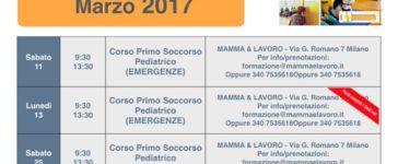 Calendario Corsi ed Eventi nel Mese di Marzo 2017