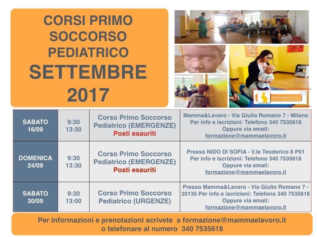 Calendario Corsi locandina Settembre