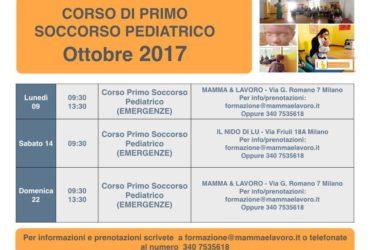 Calendario Corsi ed Eventi nel Mese di Ottobre 2017