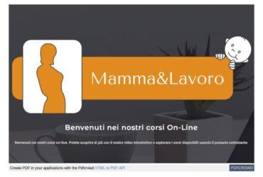 Arrivano i corsi online di Mamma&Lavoro: ilclubdellaformazione.cloud